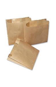 Бумажный пакет для картошки фри 110х100х55мм крафт (014008)