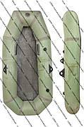 Резиновая гребная лодка  полуторка (для рыбалки и охоты)