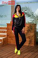 Костюм спортивный женский штаны и куртка Адидас - Черный