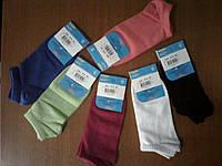 Детские носки унисекс, однотонные укороченные арт.810 размеры с 20 по 24.