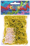 Набор аксессуаров для творчества 600 шт резиновых колец + 24 шт клипсы оливко RAINBOW LOOM (B0017)