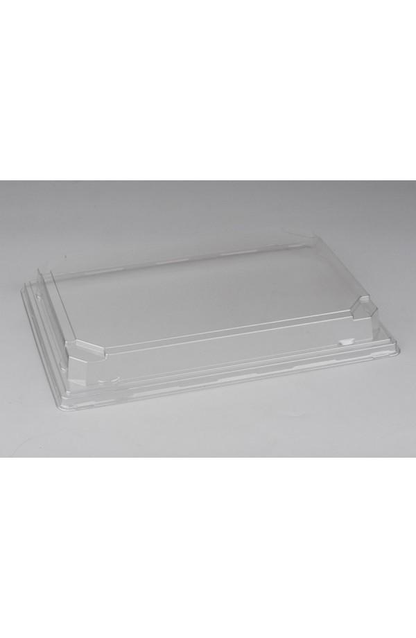 Крышка для большого контейнера 242*168*30мм ПЭТ прозрачная (015045)