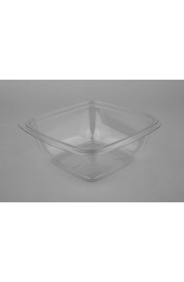 Контейнер квадратний для салату 750мл 160*160*60мм ПЕТ прозорий (015062)