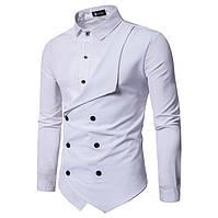 Мужская рубашка двубортная с длинным рукавом