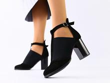 Женские черные замшевые туфли