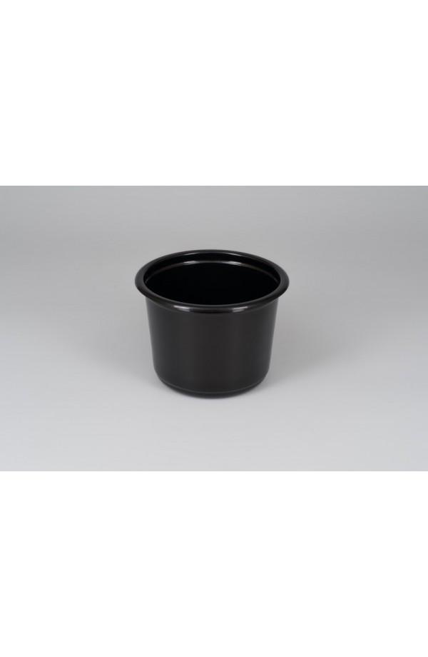 Контейнер круглый для первых блюд 500мл Ǿ=115мм, h=82,6мм,  РР черный (Крышка 015110)