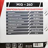Зварювальний напівавтомат інверторного типу Сталь MIG-240, фото 10
