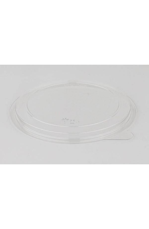 Крышка плоская круглая Ǿ=131мм h=10мм ПЭТ прозрачная (015256)