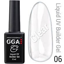 Жидкий гель Liquid Builder Gel GGA Professional 06 15 мл