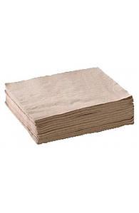 Салфетка бумажная барная 24х24см однослойная крафт (300шт/уп)