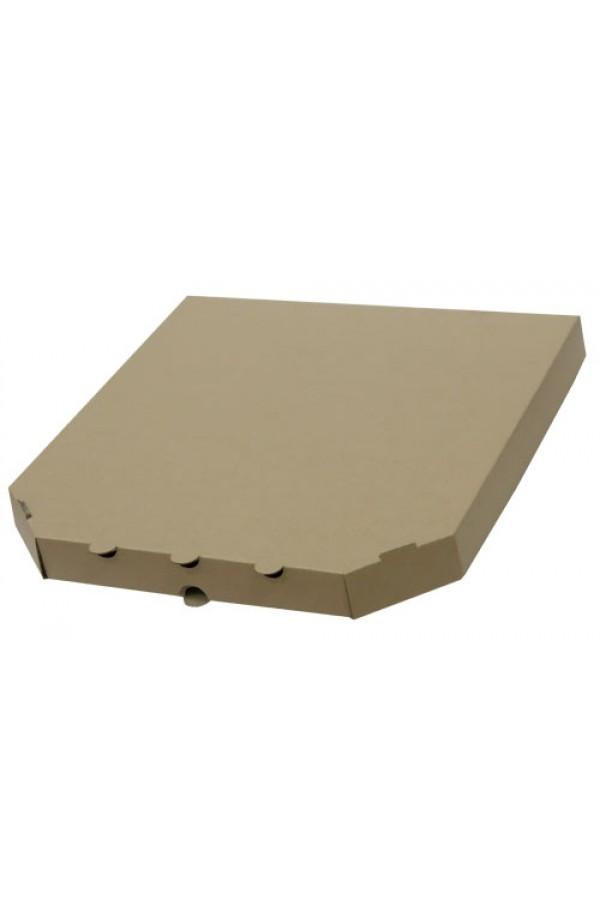 Коробка для піци з гофрокартону бура 300*300*30мм