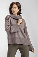 Элегантный женский свитер в минималистическом стиле темно-лиловый