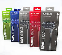 Наушники вакуумные с микрофоном KARLER KR403