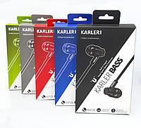 Наушники вакуумные с микрофоном KARLER KR404
