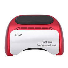УФ LED+CCFL лампа (таймер 10, 20, 30сек) 48 Вт(красная)