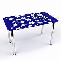 """Стол обеденный стеклянный """"Звезды С-2"""" стол для гостинной или кухни"""