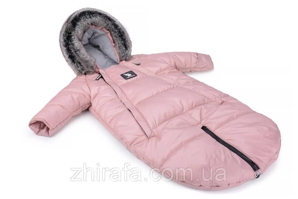 Зимний комбинезон - трансформер Cottonmoose Moose 0-6 M 767/111 pink (розовая пудра)