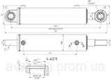 Гідроциліндр Ц125.50х400.11 (700.34.29.000-1) повороту К-700, К-701, фото 2