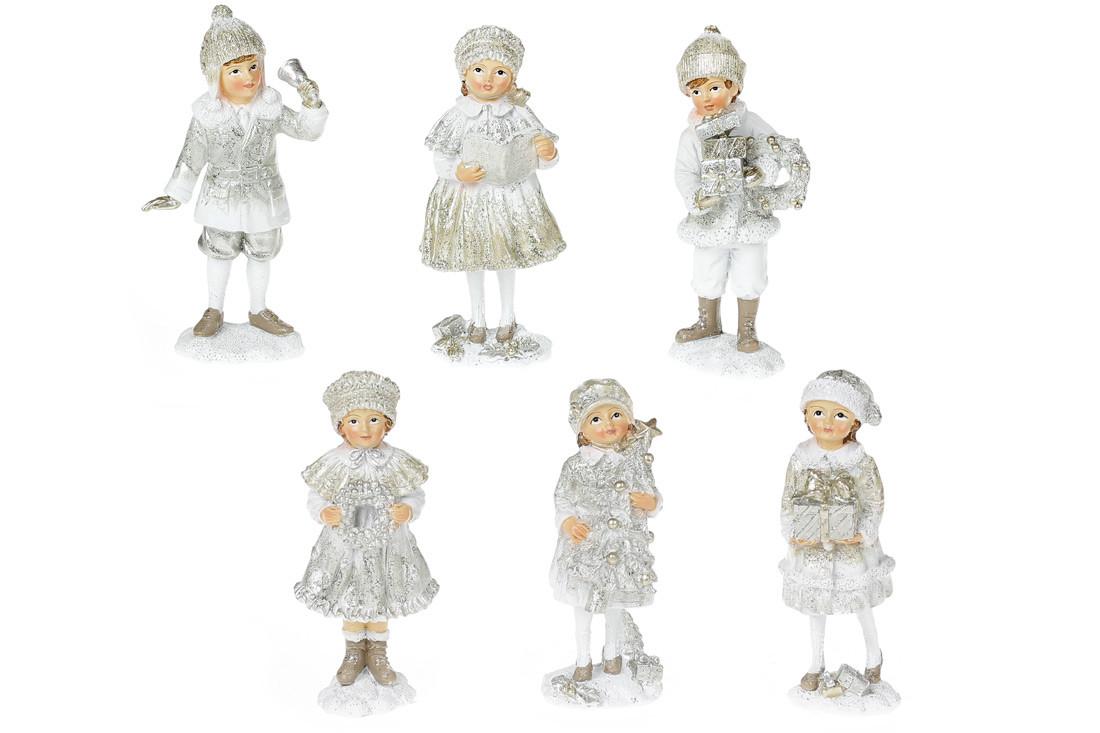 Декоративная фигурка Детки, 6 видов, 12см, цвет - шампань
