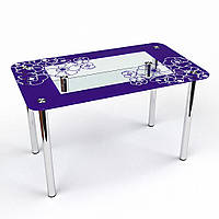 """Кухонный стол стеклянный """"Маки С-2"""" стол для гостинной или кухни"""