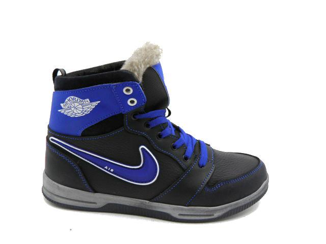 Черевики * підліткові Nike ( Репліка) 65 чорний з синім * 23504