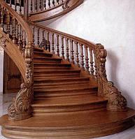 Лестницы деревянные, балясины, столбы, токарные работы