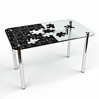 """Столик стеклянный """"Пазл с-2"""" стол для гостинной или кухни"""
