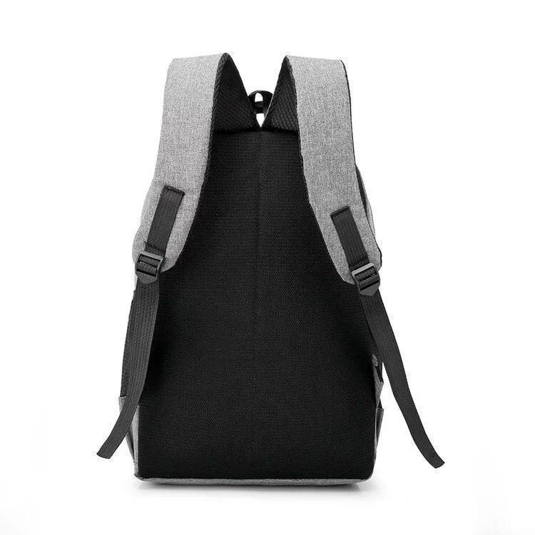 Вместительный рюкзак на два отделения серый, фото 3