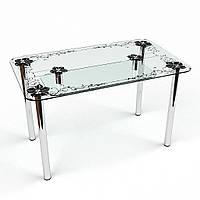 """Стол обеденный стеклянный """"Скиф С-2"""" стол для гостинной или кухни"""