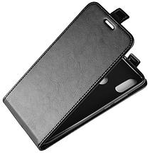 Кожаный чехол флип для Xiaomi Redmi Note 7 черный