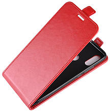Кожаный чехол флип для Xiaomi Redmi Note 7 красный