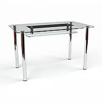 """Кухонный стол стеклянный """"Стар С-2"""" стол для гостинной или кухни"""