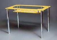 """Стол обеденный стеклянный """"Улыбка"""" стол для гостинной или кухни"""