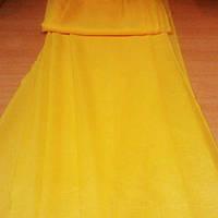 Тюль,шифон однотонный желтый