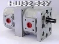 Насос шестиренчатый сдвоенный (спаренный) тандем НШ-32-32