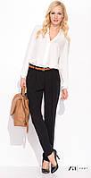 Женские классические брюки с высокой посадкой черного цвета. Модель Mona Zaps