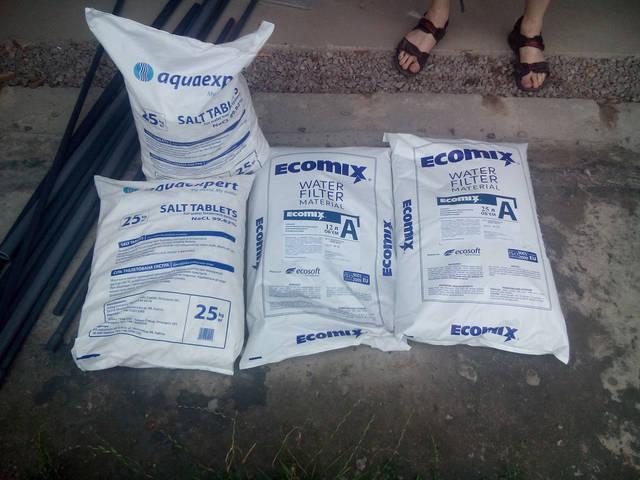 Таблетированная соль и Ecomix