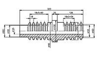 Изоляторы фарфоровые проходные неармированные ПМА-10-1 УХЛ2, Изолятор ПМА-10-1 УХЛ2, ПМА 10 1 УХЛ2