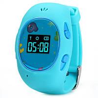 Детские смарт часики с GPS-трекером G65 в голубом цвете