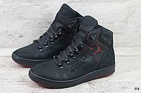 Мужские кожаные зимние ботинки Jordan (Реплика) (Код: D2  ) ►Размеры [40,41,42,43,44,45], фото 1