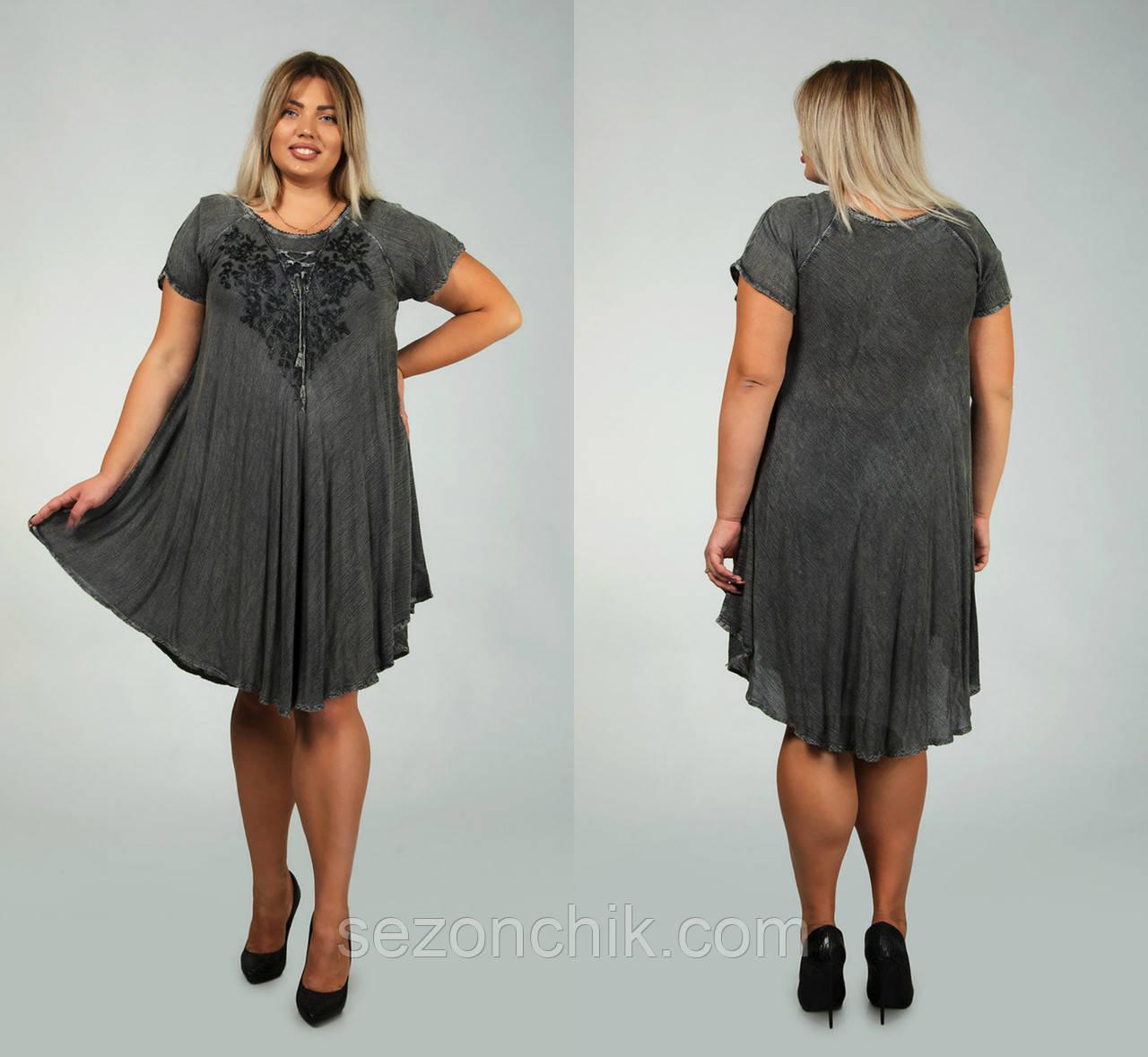 Стильное женское летнее платье
