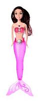 Русалка - кукла для девочек A 009-7 светящаяся светло-розовым цветом (хвост)