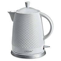 Электрический керамический чайник Maestro 1.5 л Белый (MSR-069)