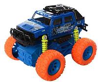 Металлическая инерционная машинка с большими колесами Crazy Car  K148A1-A2-A3 Синяя