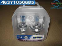 ⭐⭐⭐⭐⭐ Лампа накаливания SET H4 12V 60/55 W P43t RANGE POWER +110 (комплект 2 штуки ) (производство  Narva)  48061S2