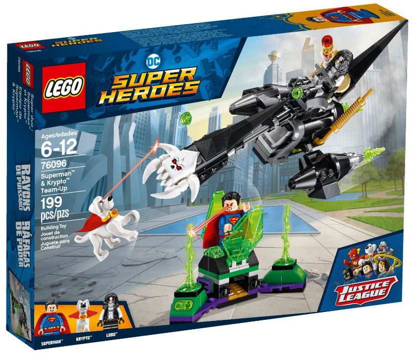 Lego Super Heroes Супермен и Крипто объединяют усилия 76096