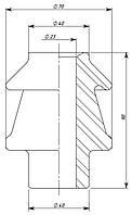 Изоляторы проходные для съемных трансформаторных вводов ИПТ-1/630 01, Изолятор ИПТ-1/630 01, ИПТ-1/630
