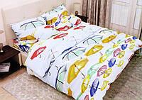 Полуторное постельное белье Цветные зонтики