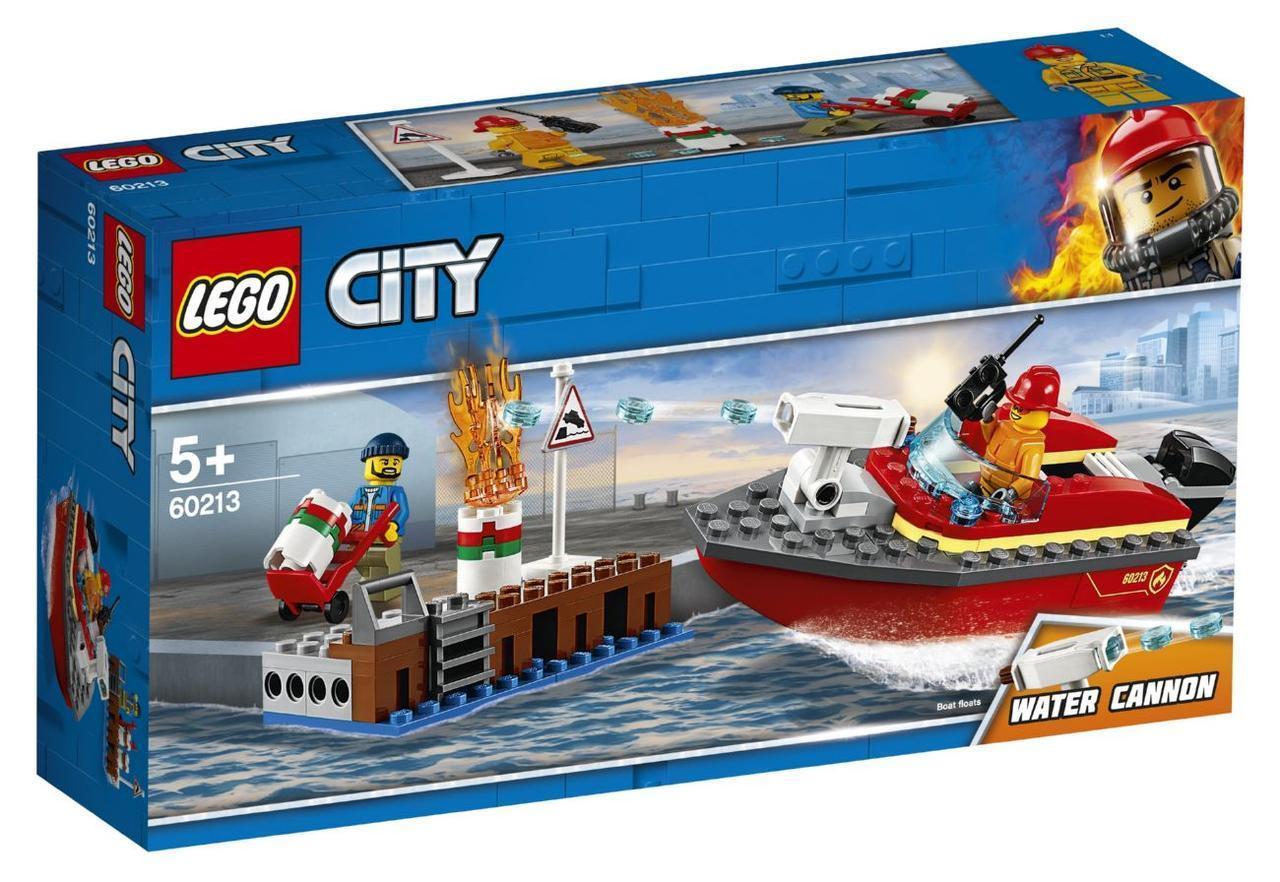Lego City Пожар в порту 60213