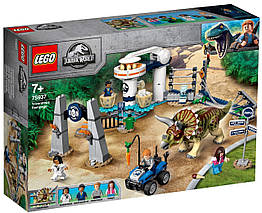 Lego Jurassic World Нападение трицератопса 75937
